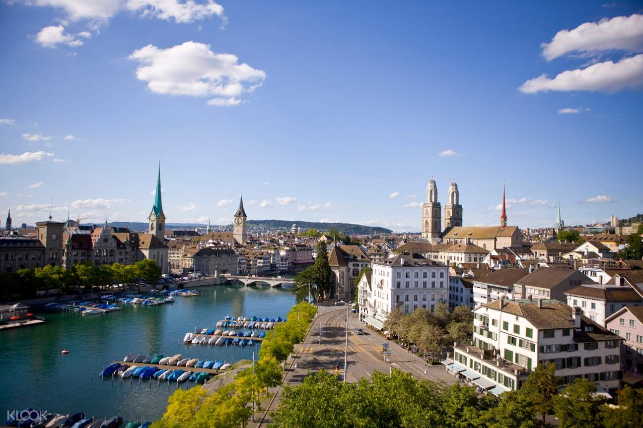 panoramic view of zurich